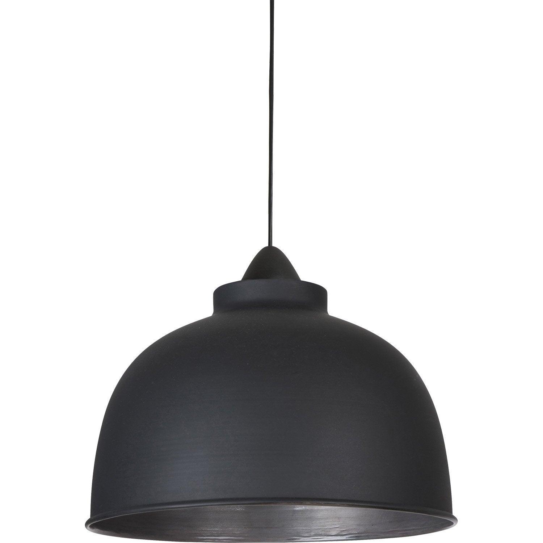 Suspension e27 style industriel Little dock métal noir mat 1 x 60 W