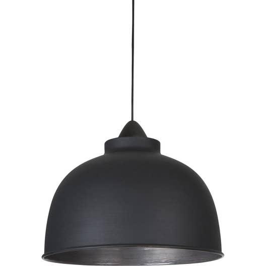 suspension e27 style industriel little dock m tal noir mat 1 x 60 w corep leroy merlin. Black Bedroom Furniture Sets. Home Design Ideas