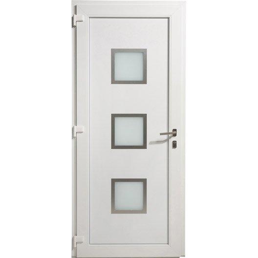 Porte d 39 entr e pvc arhus excellence poussant gauche x cm le - Gedimat porte d entree ...