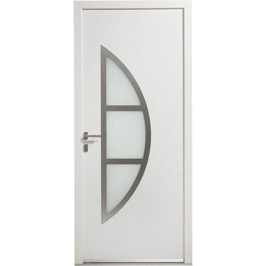 Porte d 39 entr e pvc bergen excellence poussant droit - Leroy merlin porte d interieur ...