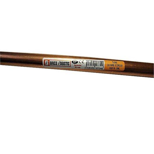 tube d 39 alimentation cuivre croui x 18 mm en barre de 1 m leroy merlin. Black Bedroom Furniture Sets. Home Design Ideas