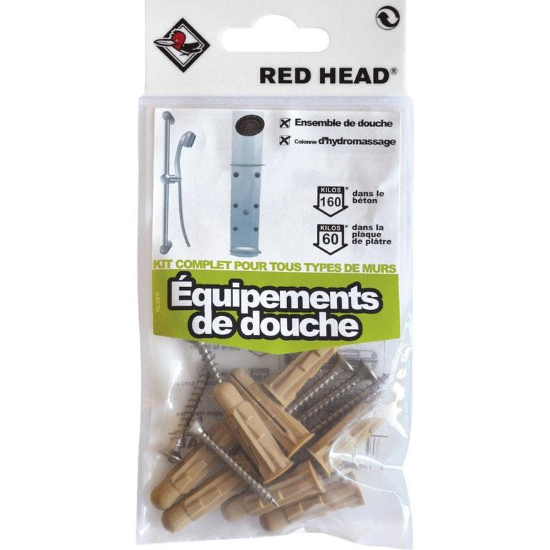 élégant et gracieux paquet à la mode et attrayant chaussures classiques kit chevilles à expansion douche RED HEAD, Diam.8 x L.32 mm