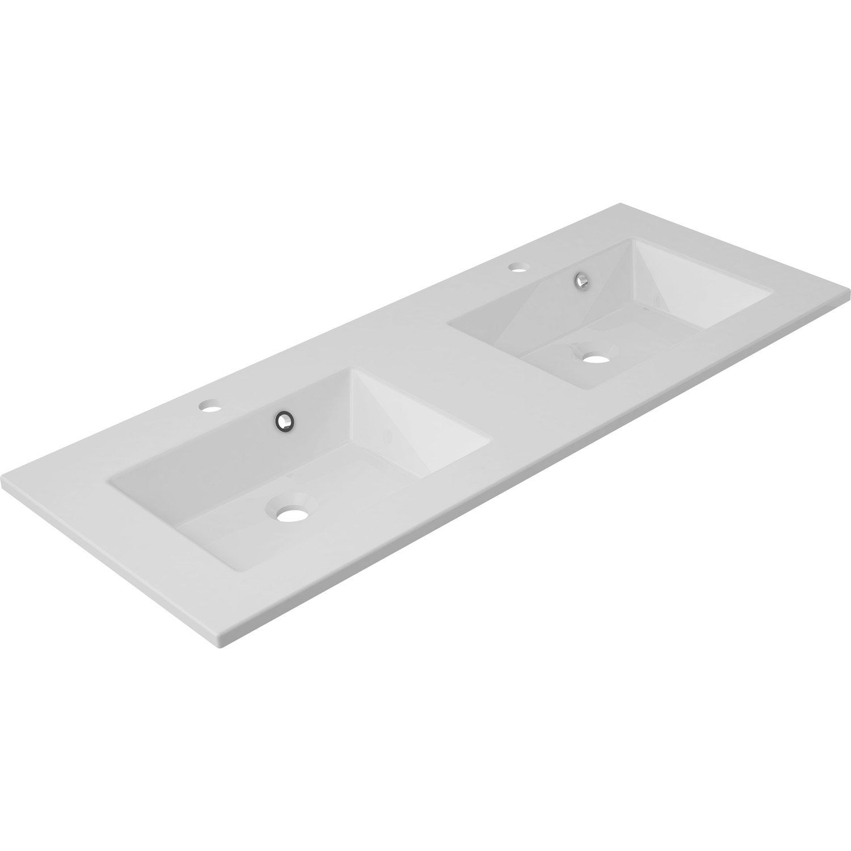 plan vasque double modern marbre de synth se 121 cm. Black Bedroom Furniture Sets. Home Design Ideas