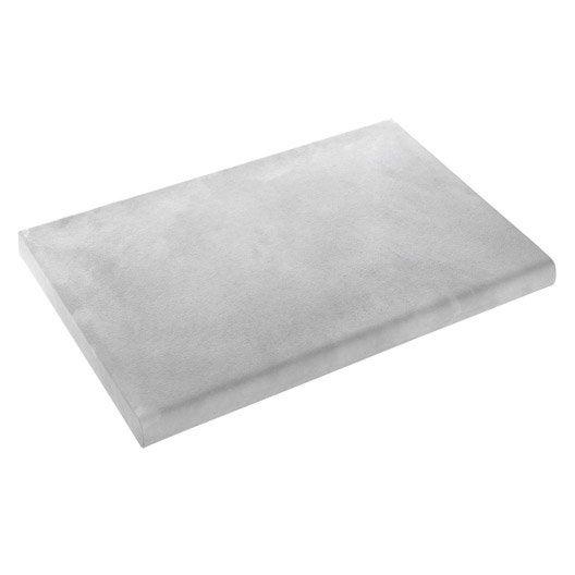 Margelle oc ane en pierre reconstitu e gris x x for Margelle piscine grise