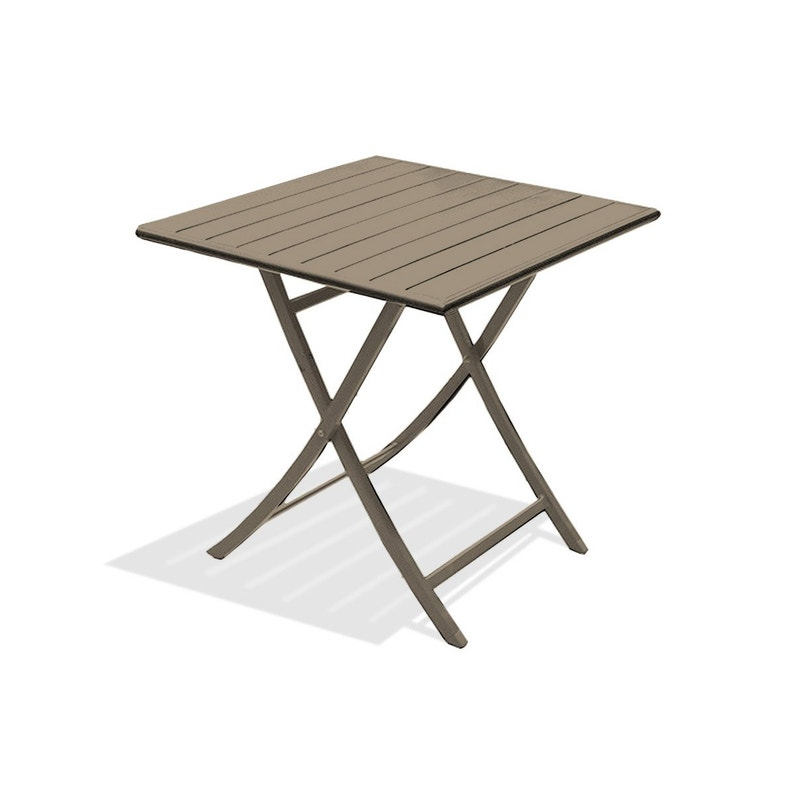 Table de jardin Marius carrée beige 2 personnes | Leroy Merlin