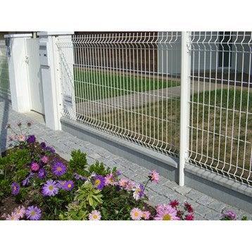 Plaque droite pour clôture en béton pleine, L.252.5 x H.24 cm x Ep.3.5 mm