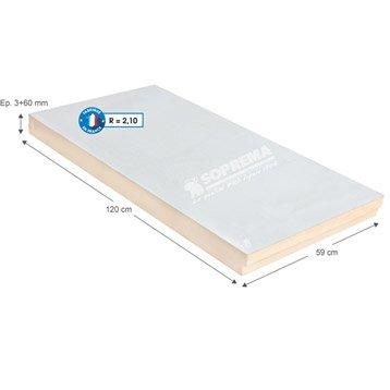 Panneau en polystyrène extrudé+béton, SOPREMA 1.2x0.59m, Ep.3+60mm