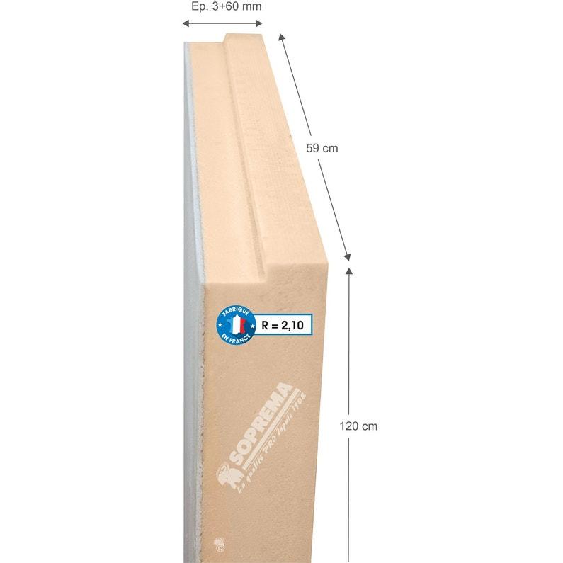 Panneau En Polystyrène Extrudé Béton Soprema 1 2x0 59m Ep 3 60mm