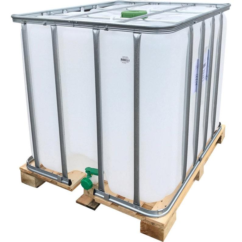 bdb7dda82816dc Cuve De récupération d eau de pluie poche neuve IBC blanc 1000 l ...