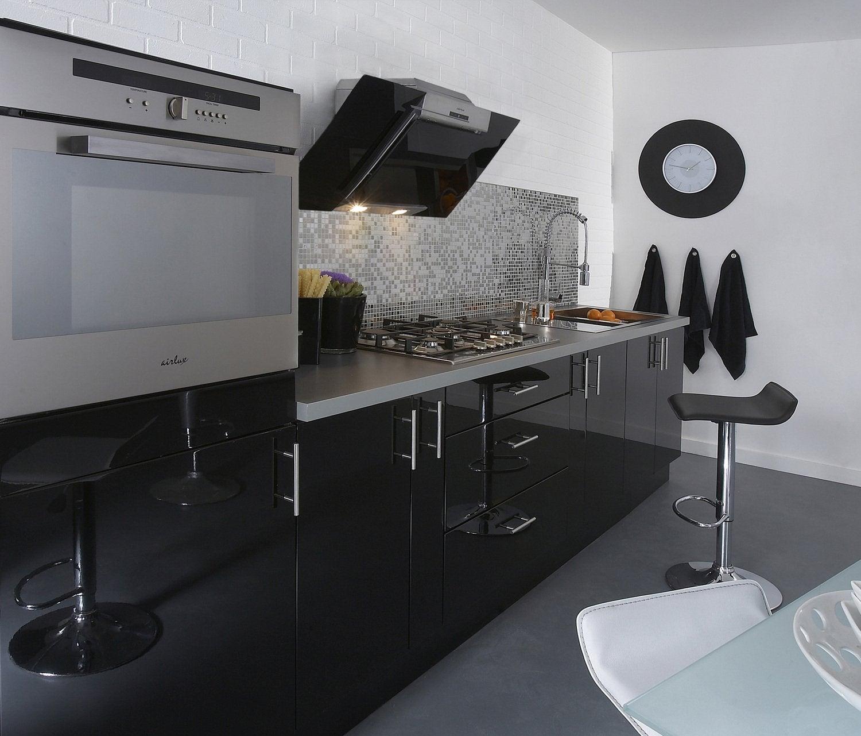 Cuisine Noire Signe D Elegance Leroy Merlin