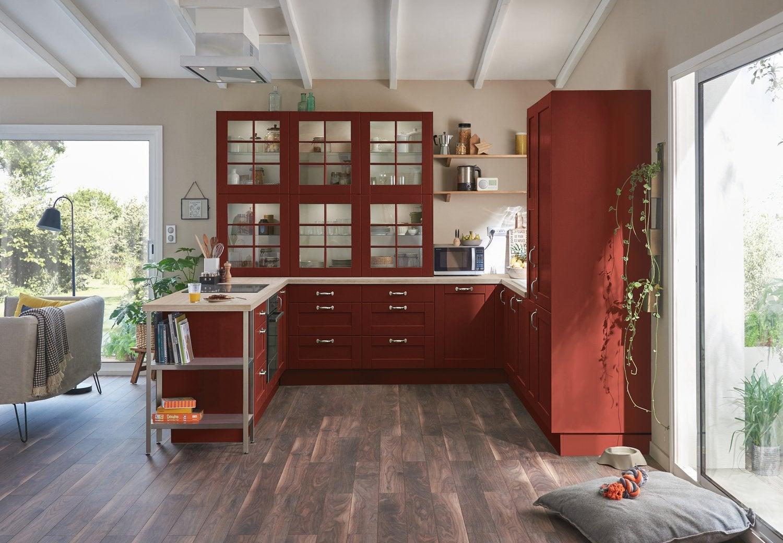 Le rouge brique s\'invite dans la cuisine | Leroy Merlin