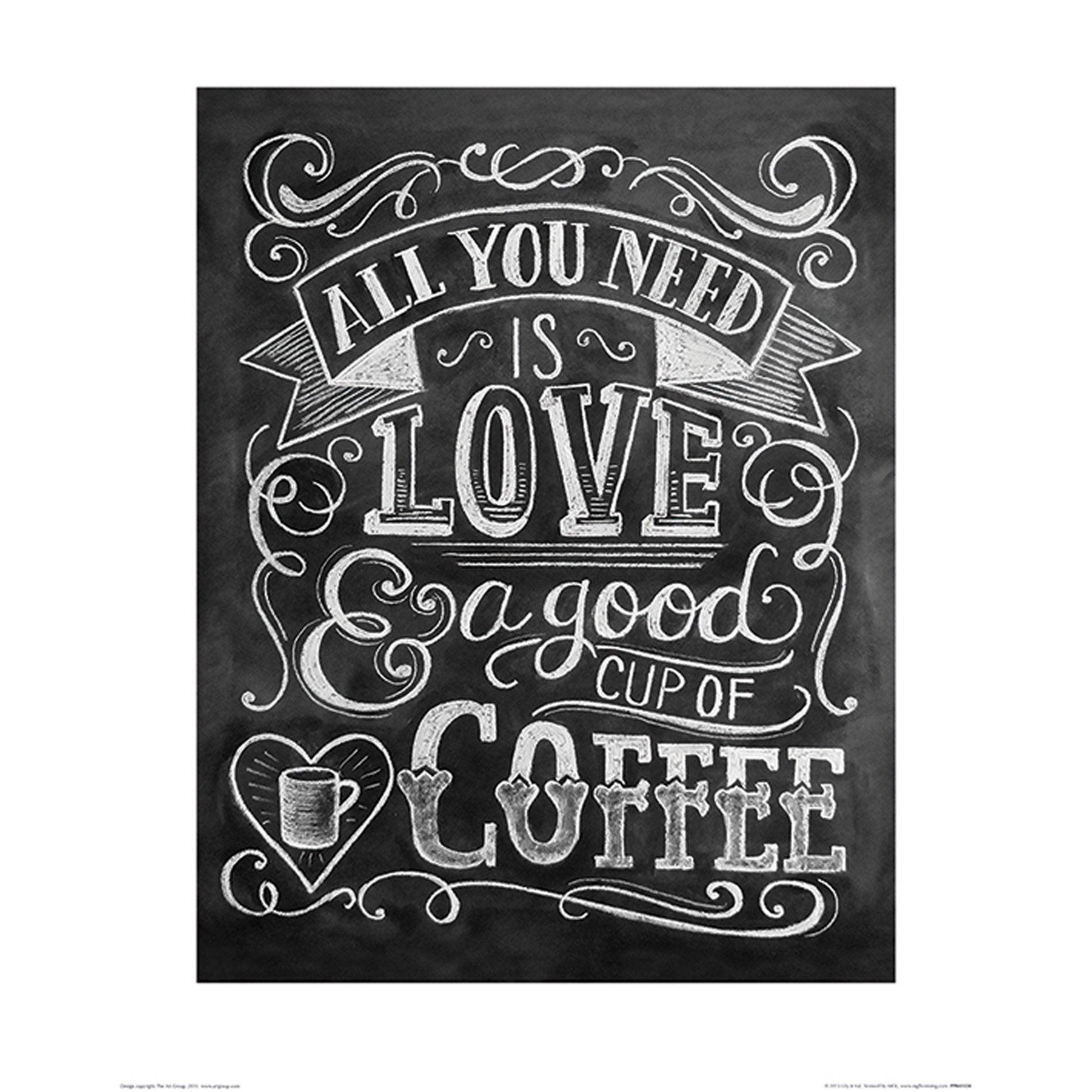 Affiche Coffee l.40 x H.50 cm