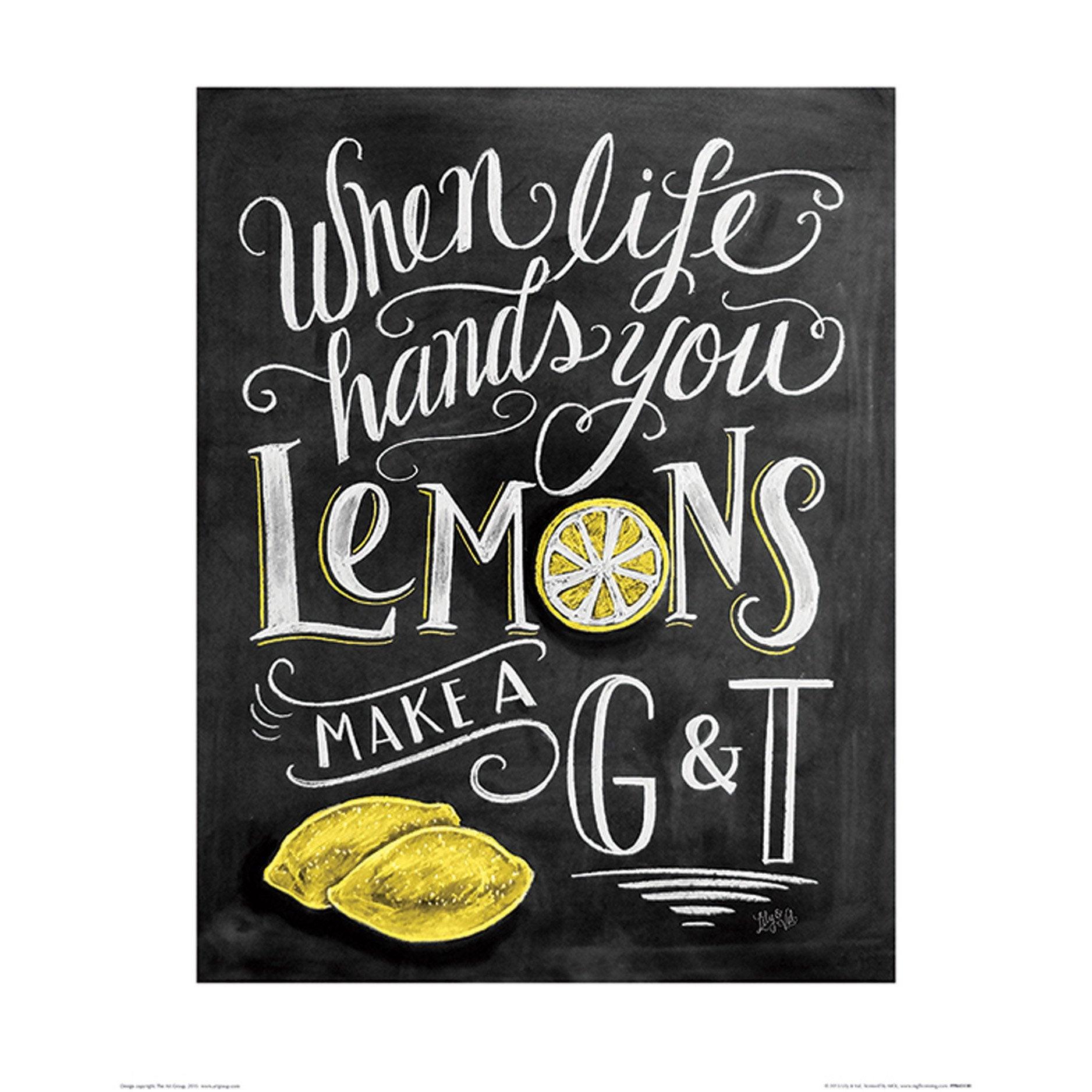 Affiche Lemon l.40 x H.50 cm
