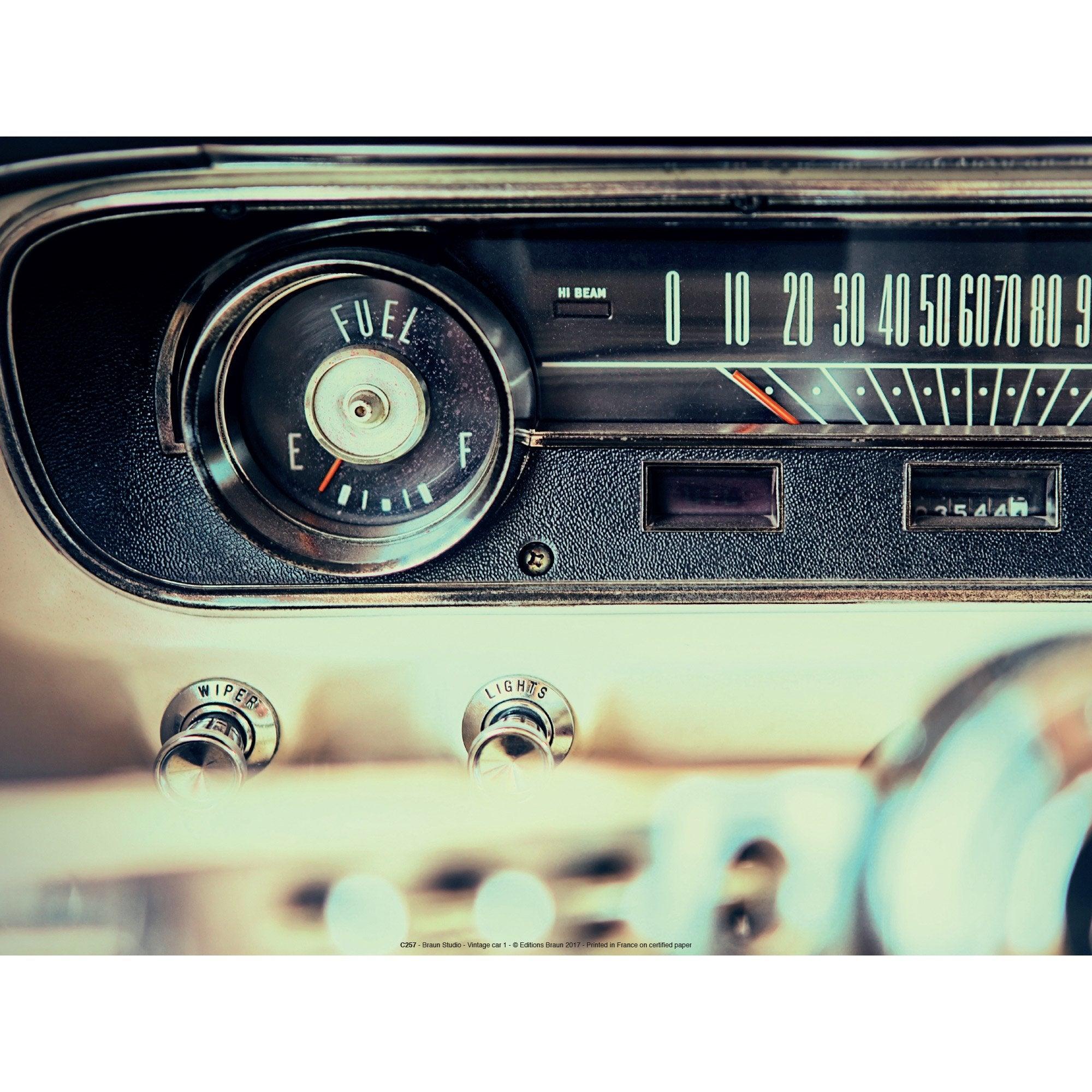 Affiche Car radio l.41 x H.31 cm