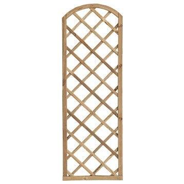 Panneau treillis bois ajouré Sonato, l.60 cm x h.180 cm, naturel