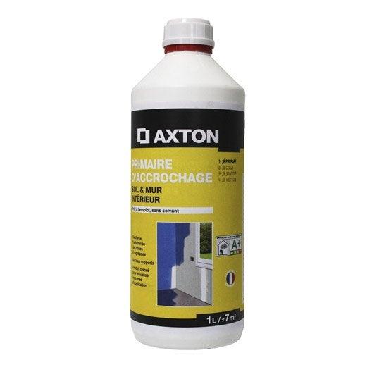 primaire d'accrochage axton, 1 l | leroy merlin - Primaire D Accrochage Peinture Plafond