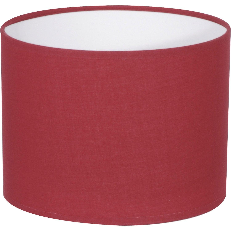 abat jour tube 30 cm coton rouge rouge n 5 inspire leroy merlin. Black Bedroom Furniture Sets. Home Design Ideas