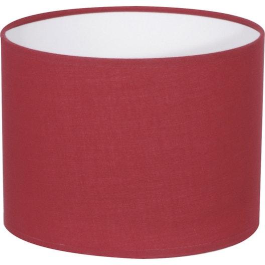 abat jour tube 35 cm coton rouge rouge n 5 inspire leroy merlin. Black Bedroom Furniture Sets. Home Design Ideas
