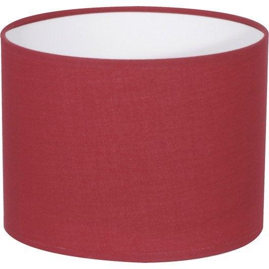 abat jour tube 20 cm coton rouge rouge n 5 inspire leroy merlin. Black Bedroom Furniture Sets. Home Design Ideas