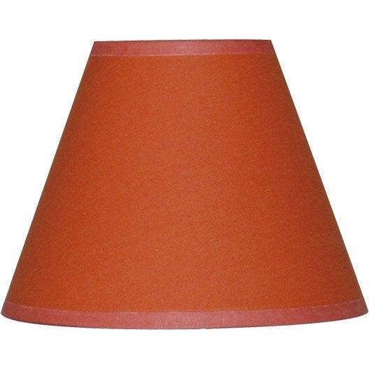 abat jour sweet 14 cm coton orange leroy merlin. Black Bedroom Furniture Sets. Home Design Ideas