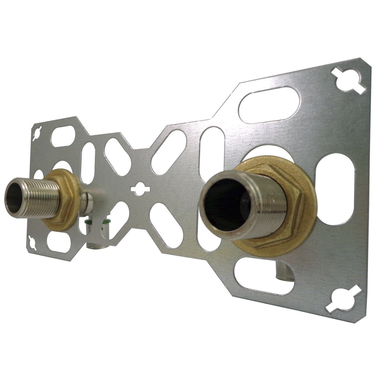 kit fixation baignoire Kit fixation robinetterie douche ou bain à sertir laiton M 20 x 27 tube per