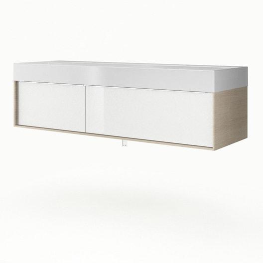 Meuble vasque 150 cm imitation chêne, Neo frame | Leroy Merlin
