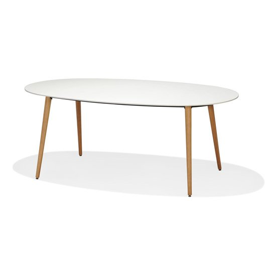 Table de jardin chamonix ovale cru 4 personnes leroy merlin for Table jardin 4 personnes