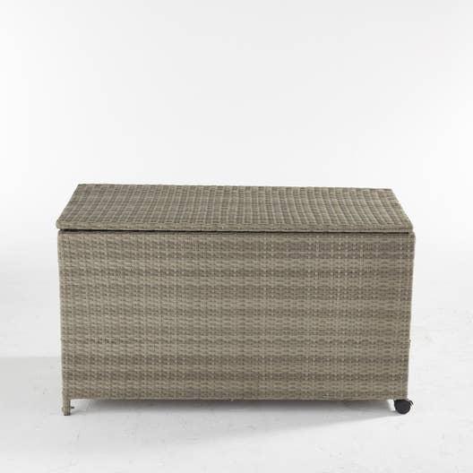 coffre de jardin en tissu daveport taupe leroy merlin. Black Bedroom Furniture Sets. Home Design Ideas