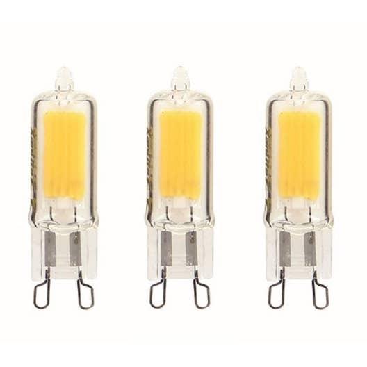 Ampoules led g9 2w 200lm quiv 20w 2700k 250 xanlite lot de 3 leroy merlin - Ampoule g9 led leroy merlin ...