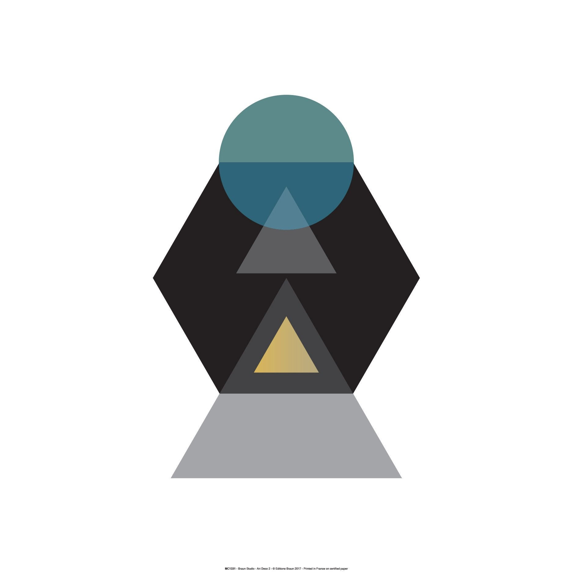 Affiche Art deco noir l.51 x H.41 cm