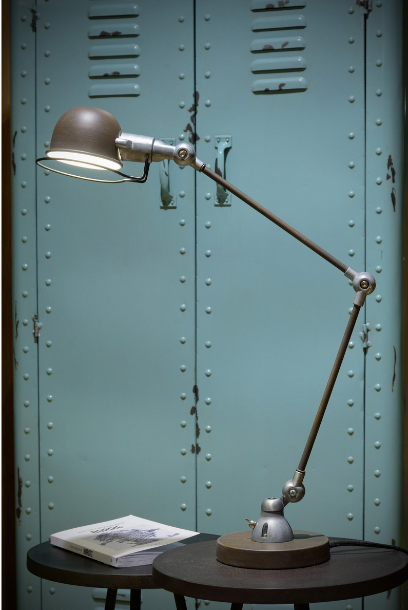 Lampe De Bureau Industriel Métal Rouille Lucide Honore