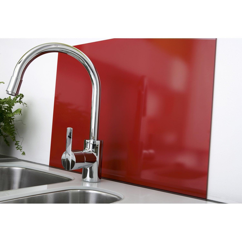 cr dence verre rouge mat d lice cm x cm leroy. Black Bedroom Furniture Sets. Home Design Ideas