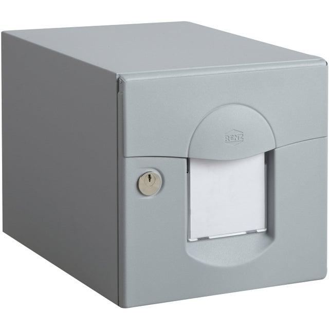 Boîte Aux Lettres Normalisée 1 Porte Extérieur Renz Solea Acier Gris