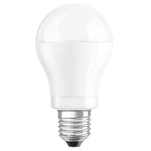 Ampoule standard LED 9W = 806Lm (équiv 60W) E27 2700K 220° OSRAM