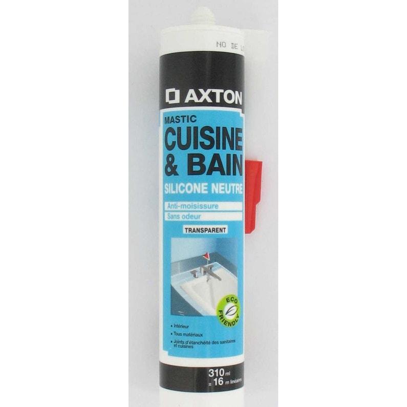 Mastic Antimoisissure Axton Transparent 310 Ml