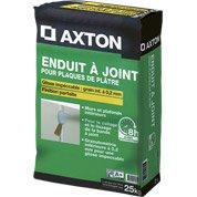 Enduit à joint pour plaque de plâtre Fassajoint 8h AXTON, 25 kg