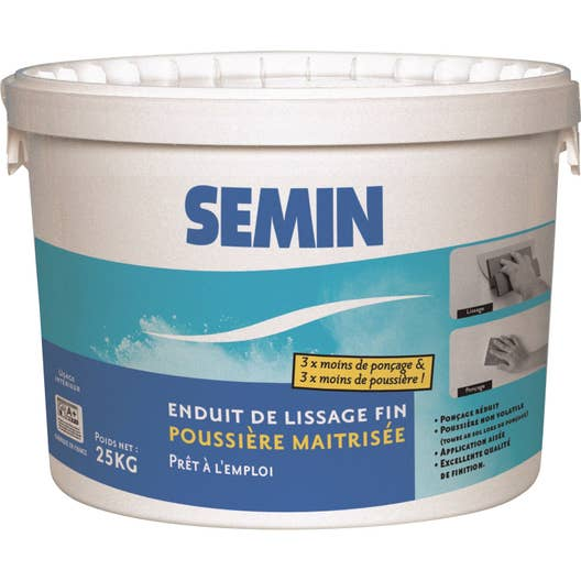 enduit de lissage poussi re ma tris e semin 25 kg leroy merlin. Black Bedroom Furniture Sets. Home Design Ideas