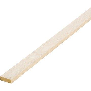 Tasseau sapin sans noeud raboté, 13 x 38 mm, L.2.5 m