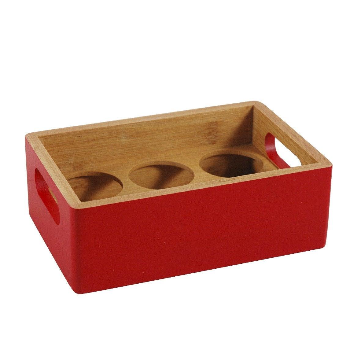 Porte-épices bambou rouge-rouge n°3