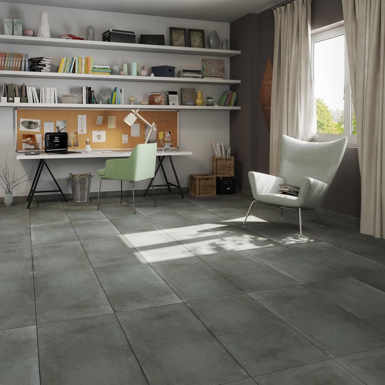 carrelage sol et mur noir effet b ton proton x cm leroy merlin. Black Bedroom Furniture Sets. Home Design Ideas