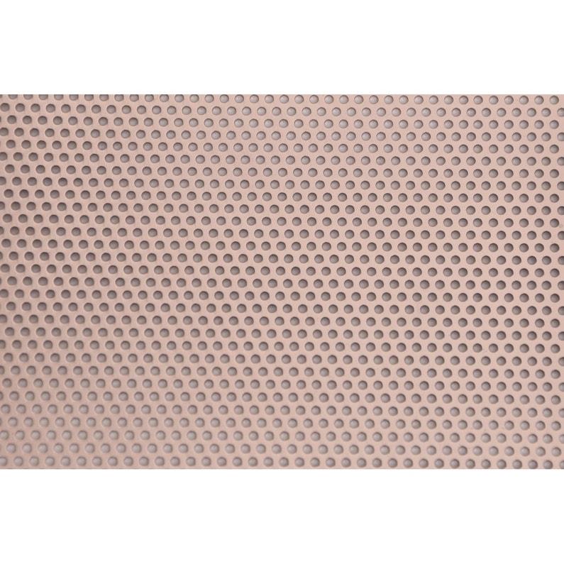 Tôle Aluminium Perforé Anodisé Rouge Rouille L60 X L100 Cm Ep08 Mm