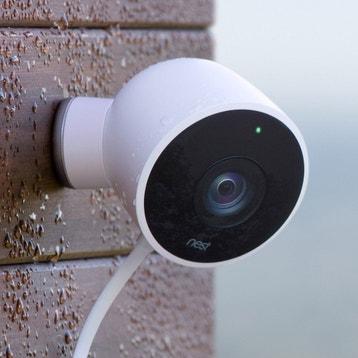 Caméra de surveillance extérieure connectée sans fil Cam, blanc NEST 40fc6f61a23c