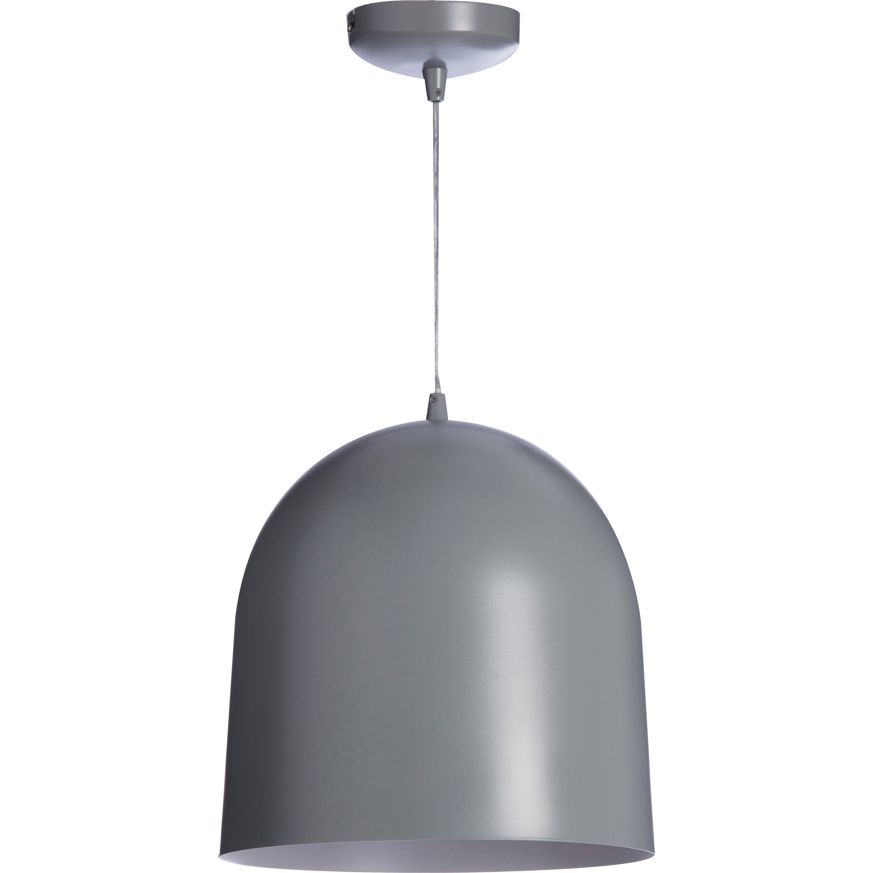 Suspension, E27 scandinave Loft métal gris 1 x 40 W LUSSIOL