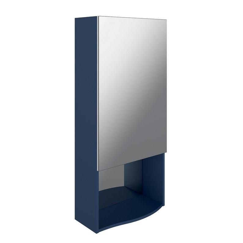 Caisson Meuble Haut Egerie L 50 X H 110 X P 20 Cm Bleu Nuit