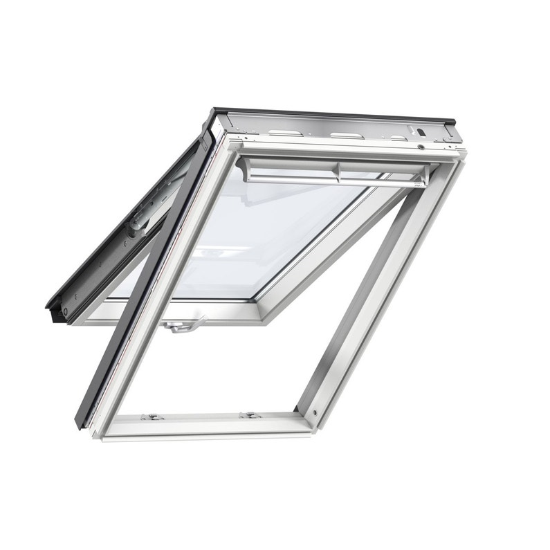 Velux 78 X 98 Confort Whitefinish Bois Blanc à Projection Gpl Mk04