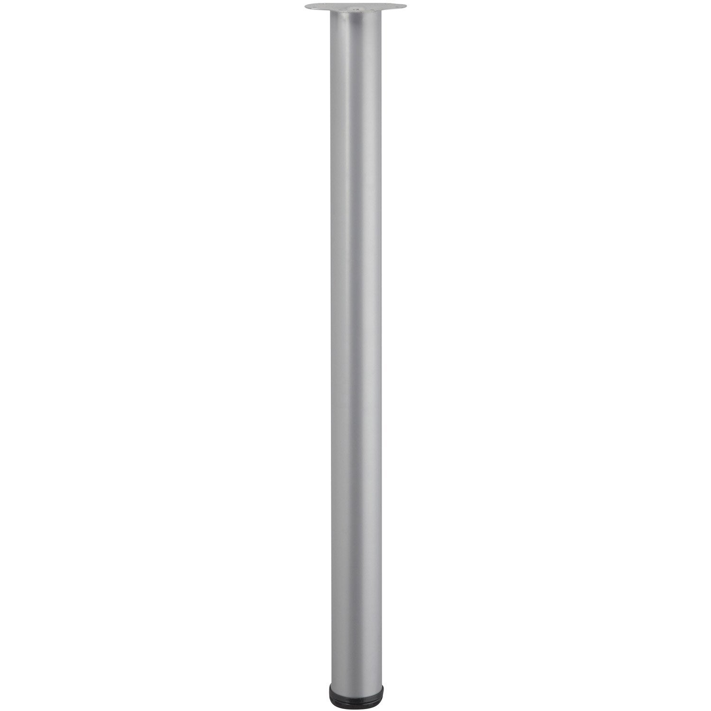 pied de table cylindrique r glable acier mat gris de 110. Black Bedroom Furniture Sets. Home Design Ideas