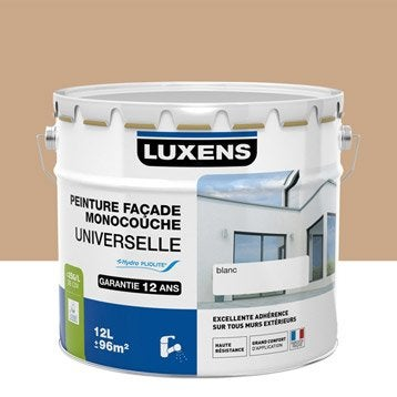 Peinture façade Universelle LUXENS, ocre provençal, 10 l