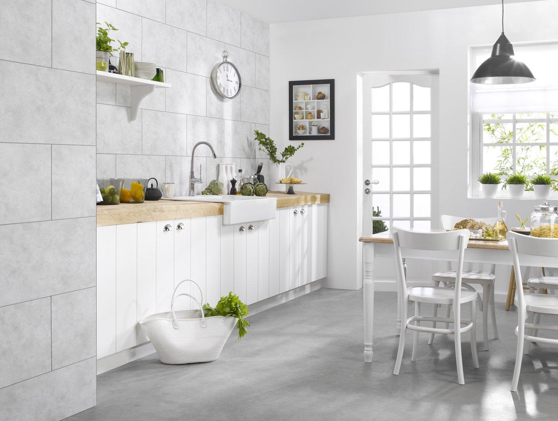 une grande cuisine familiale leroy merlin. Black Bedroom Furniture Sets. Home Design Ideas
