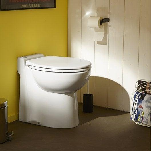 Wc poser avec broyeur int gr sfa sanicompact 545 eco - Wc avec lavabo integre leroy merlin ...