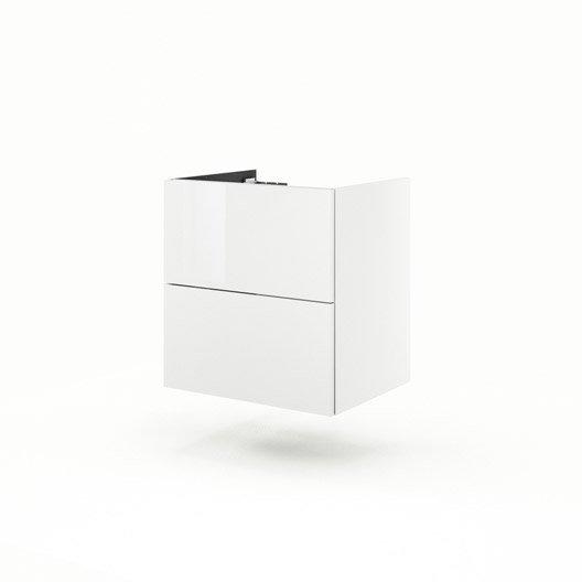 Meuble sous vasque x x cm blanc neo line - Leroy merlin meuble sous lavabo ...